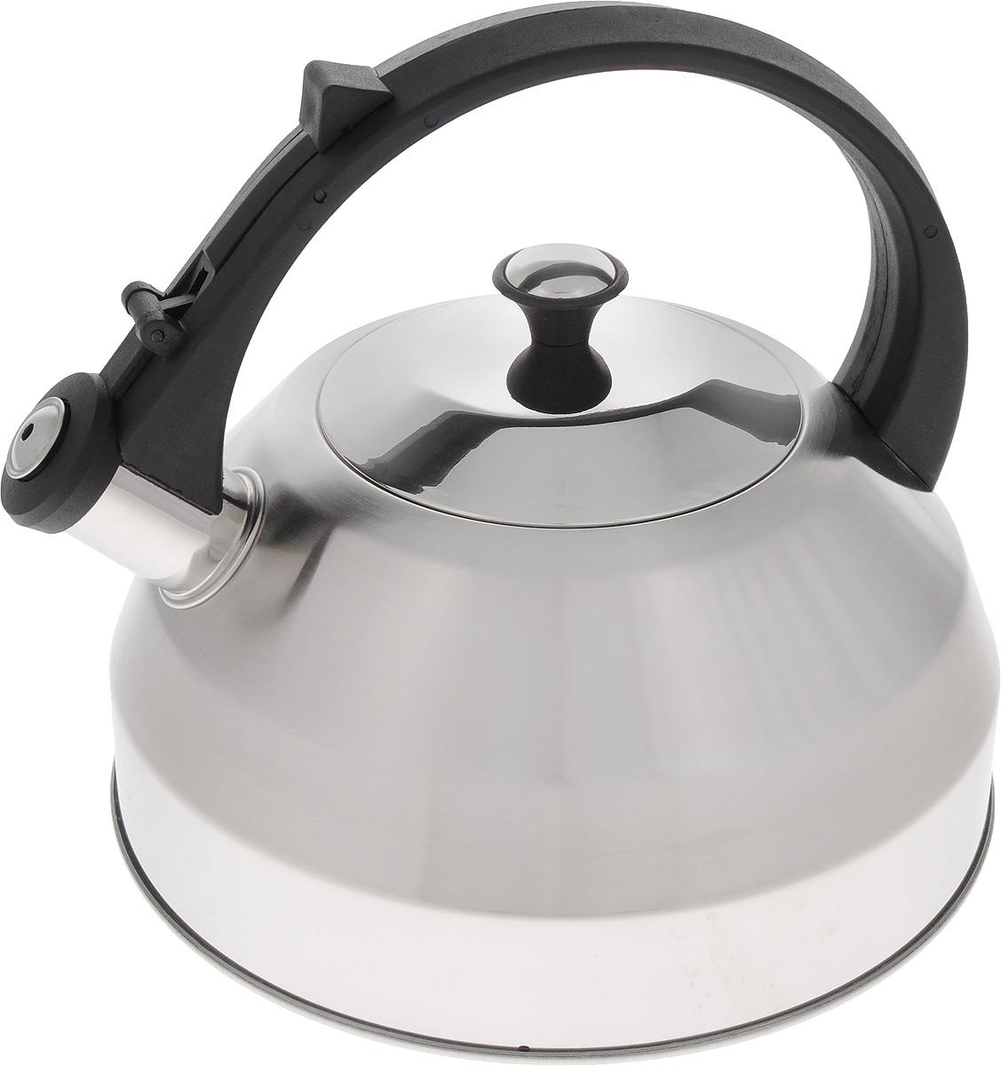 Чайник Mayer & Boch, со свистком, 3 л. 2163721637Чайник Mayer & Boch изготовлен из высококачественной нержавеющей стали, что делает его весьма гигиеничным и устойчивым к износу при длительном использовании. Капсулированное дно обеспечивает равномерный и быстрый нагрев, поэтому вода закипает гораздо быстрее, чем в обычных чайниках. Чайник оснащен откидным свистком, звуковой сигнал которого подскажет, когда закипит вода. Фиксированная пластиковая ручка дает дополнительное удобство при разлитии напитка. Чайник Mayer & Boch идеально впишется в интерьер любой кухни и станет замечательным подарком к любому случаю. Подходит для всех типов плит, включая индукционные. Можно мыть в посудомоечной машине. Высота чайника (без учета ручки и крышки): 12 см. Высота чайника (с учетом ручки и крышки): 22 см. Диаметр чайника (по верхнему краю): 12 см.