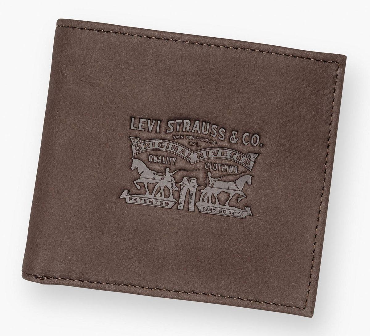 Кошелек мужской Levi Strauss Saddlemen Graphic, цвет: коричневый7717307320