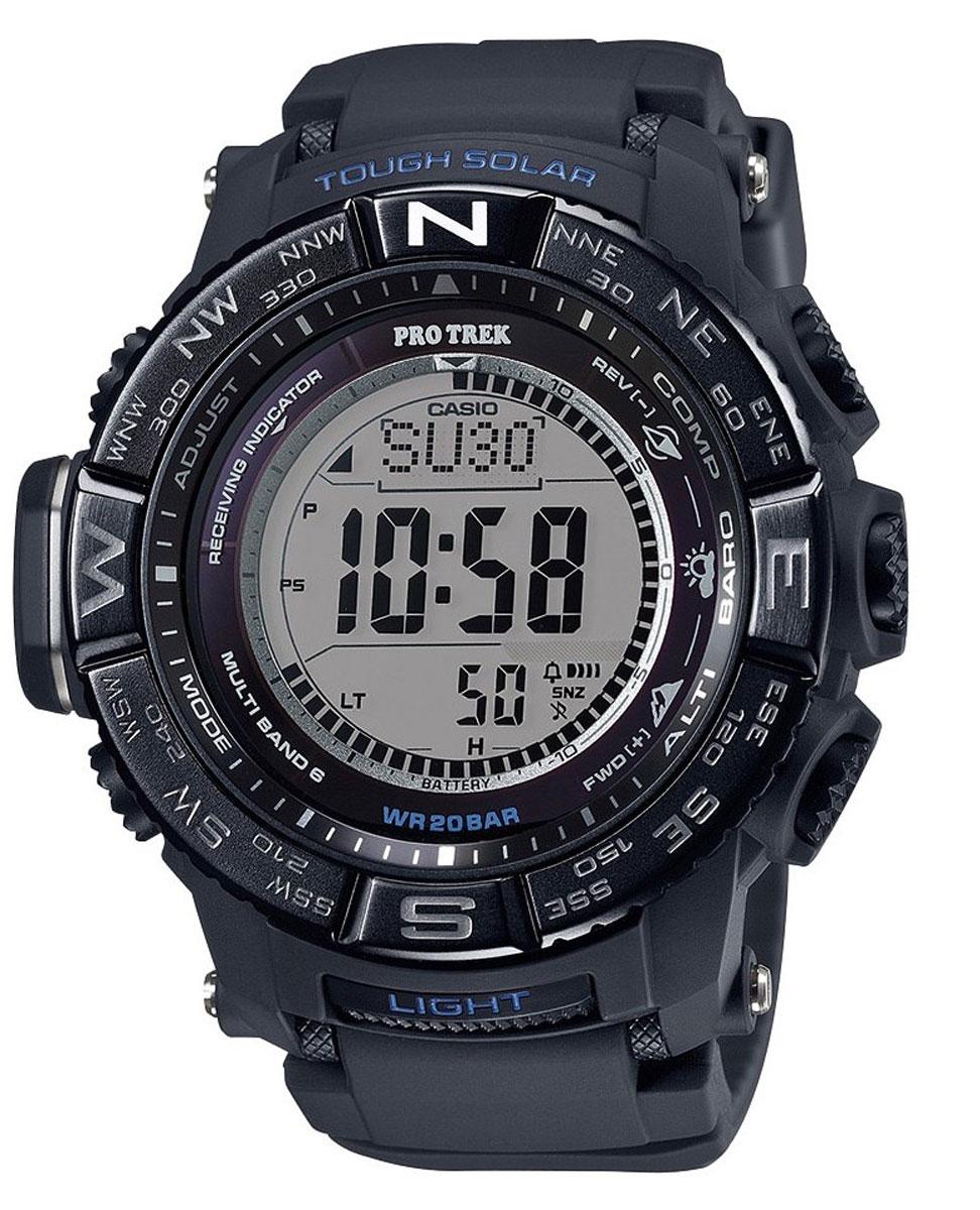 Наручные часы мужской Casio Pro Trek, цвет: черный. PRW-3510Y-1EPRW-3510Y-1E