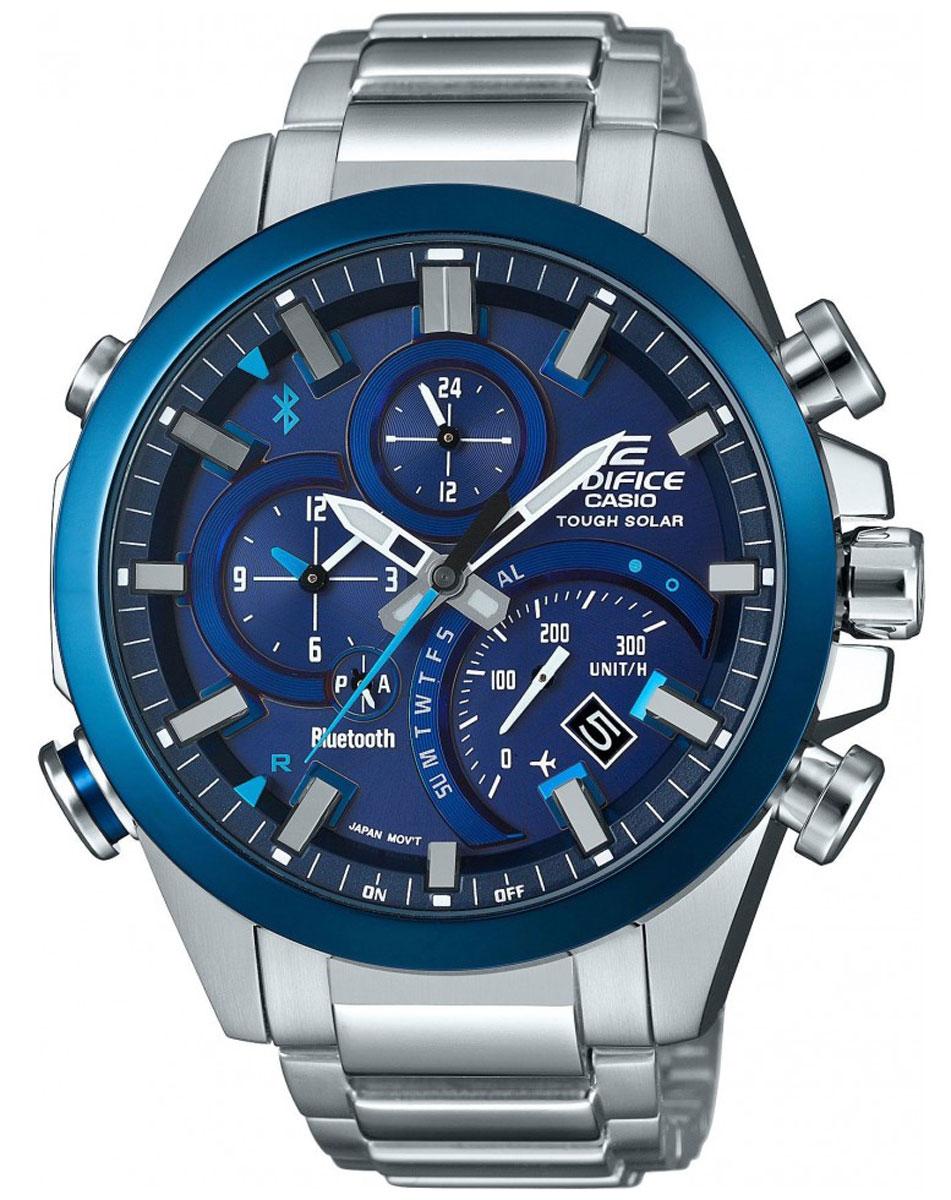 Наручные часы мужской Casio Edifice, цвет: синий, стальной. EQB-500DB-2AEQB-500DB-2A
