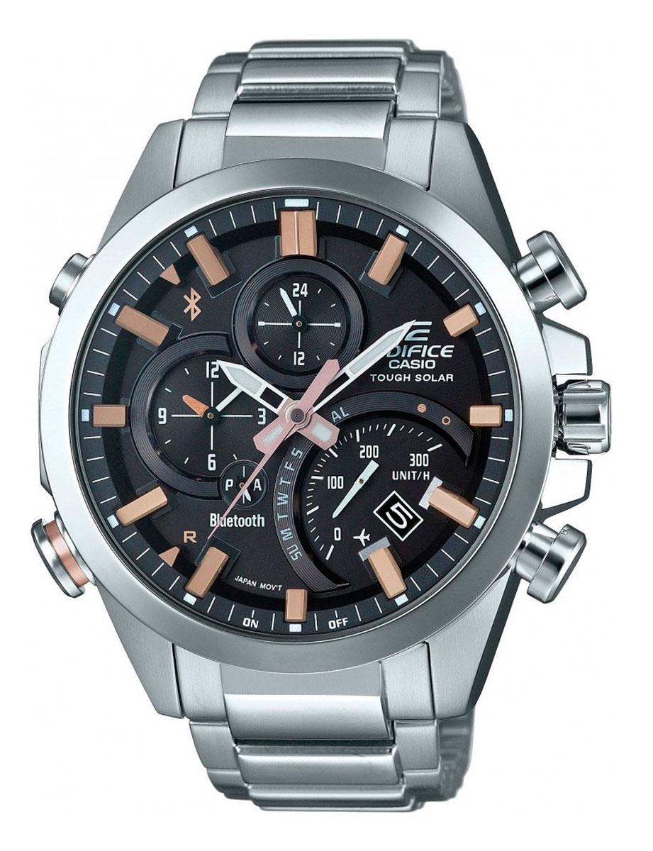 Наручные часы мужской Casio Edifice, цвет: черный, стальной. EQB-500D-1A2EQB-500D-1A2