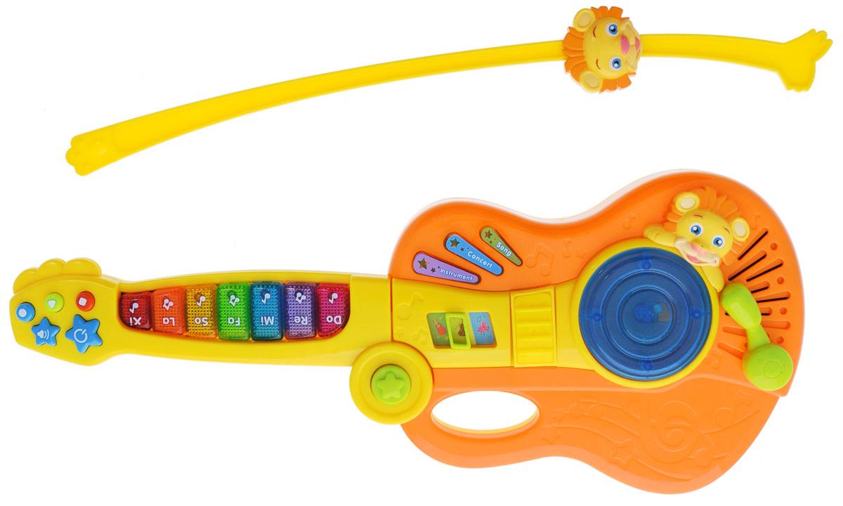 S+S Toys Скрипка Музыкальный львеночек 3 в 1664901Скрипка 3 в 1 S+S Toys Музыкальный львеночек станет прекрасным развлечением для вашего малыша. Многофункциональная скрипка порадует его различными звуковыми эффектами, а также ярким светом огоньков. С помощью переключателя игрушку можно перевести в режим гитары или пианино. Игрушка оснащена 3 режимами, функцией записи, воспроизведения и регулировкой громкости. Скрипка будет способствовать развитию слухового восприятия, музыкального слуха, воображения и моторики. Игрушка подходит для детей от 18 месяцев. Для работы игрушки необходимы 3 батарейки типа АА напряжением 1,5 V (не входят в комплект).