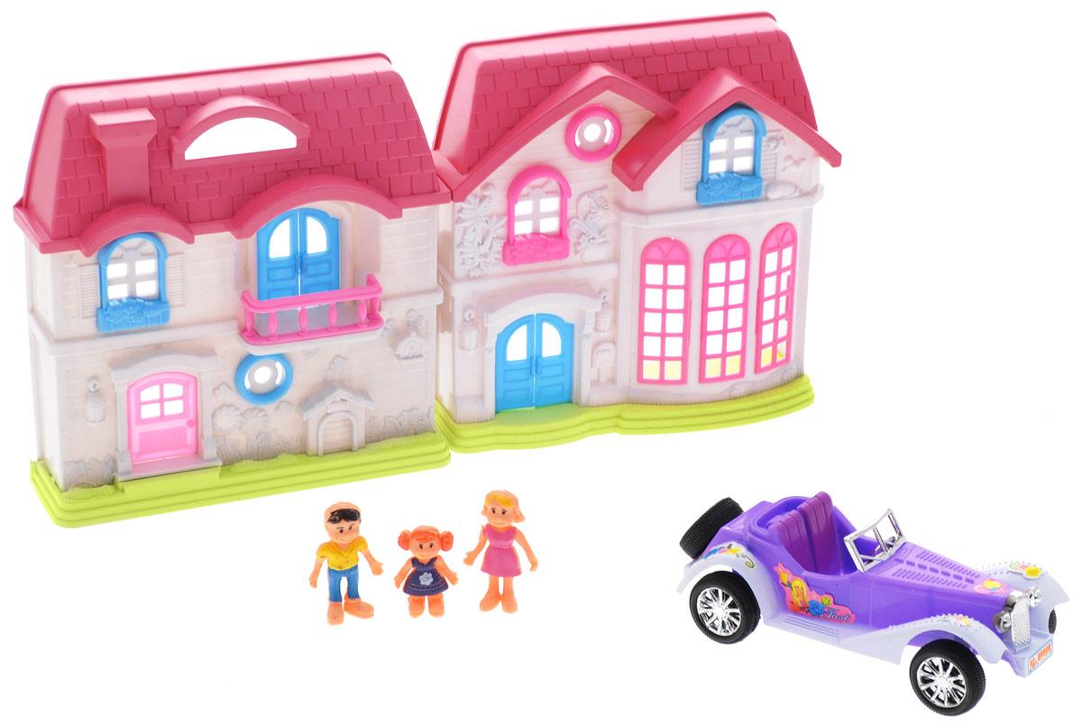 S+S Toys Игровой набор Волшебная вилла с автомобилем игра s s toys набор инструменты 96972