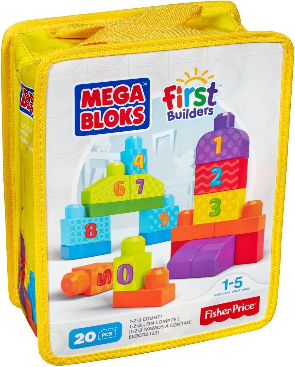 Mega Bloks First Builders Конструктор Строй и учись считатьDLH85Строить и изучать цифры очень весело с набором Строй и учись считать от Mega Bloks серии First Builders! Теперь ваш малыш может научиться считать до 10, начав строительство с 20 блоками, на которых нанесены цифры от 0 до 9 а также особые значки, облегчающие счет. Используйте яркие блоки, чтобы строить высокие башни, ряды цифр, а также все, что только сможете вообразить. Стройте, перестраивайте и считайте до десяти! Размер элементов идеально подходит для маленьких ручек. Набор поставляется в удобной сумке. Совместим со всеми наборами First Builders.