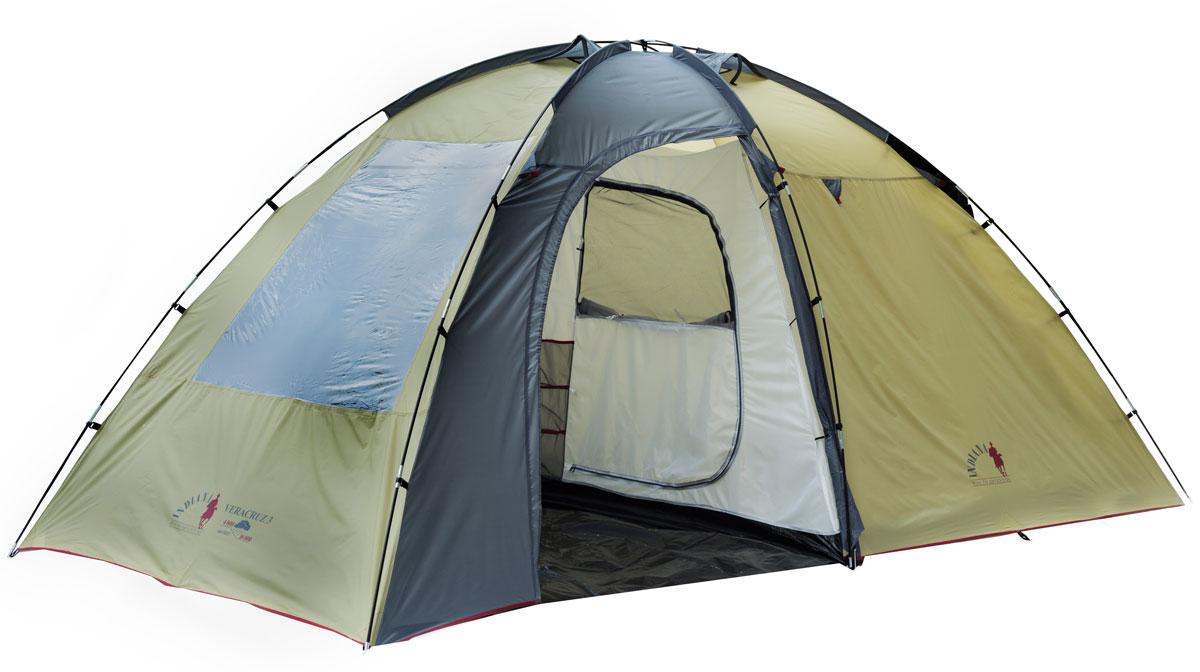 Палатка INDIANA VERACRUZ 3360200009Размер внешней палатки: 195 x 425 x 210 см. Размер внутренней палатки: 190 x 220 x 200 см.