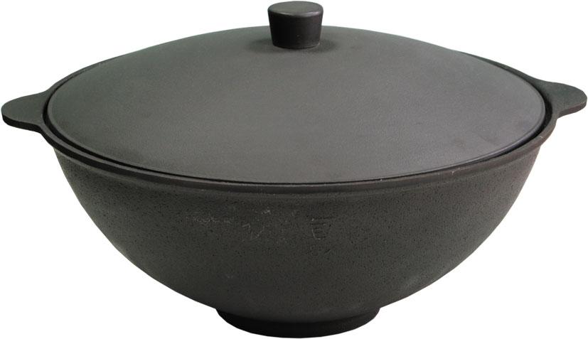 Чаша азиатская чугунная Балезино, 6 л, с крышкой. 960960