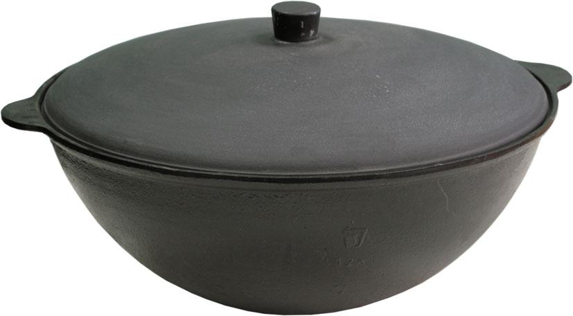 Чаша азиатская чугунная Балезино, 12 л, с крышкой. 910910