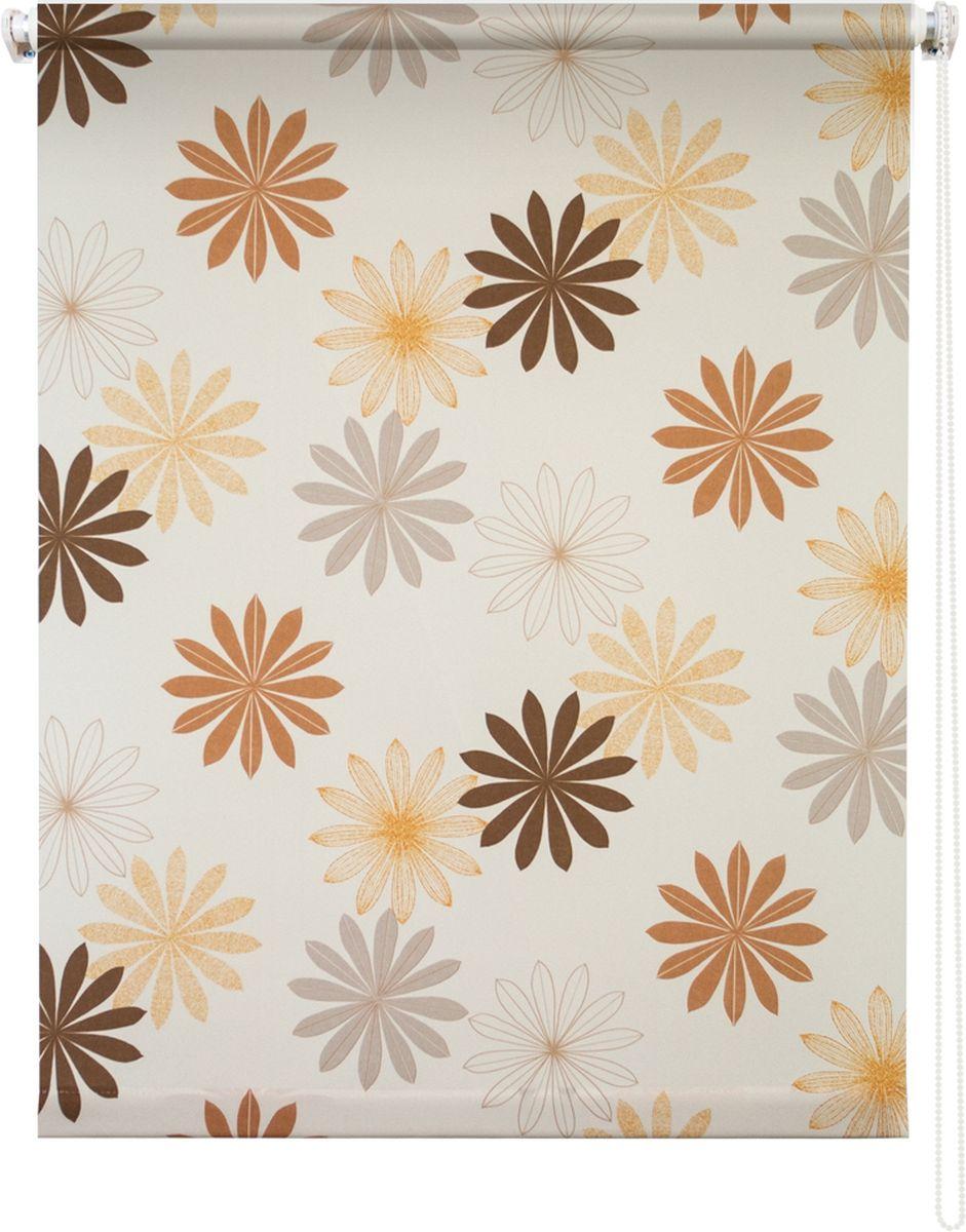 Штора рулонная Уют Космея, цвет: кремовый, 80 х 175 см62.РШТО.8978.080х175Штора рулонная Уют Космея выполнена из прочного полиэстера с обработкой специальным составом, отталкивающим пыль. Ткань не выцветает, обладает отличной цветоустойчивостью и хорошей светонепроницаемостью. Изделие оформлено красочным цветочным узором, отлично подойдет для спальни, кухни, гостиной, а также детской. Штора закрывает не весь оконный проем, а непосредственно само стекло и может фиксироваться в любом положении. Она быстро убирается и надежно защищает от посторонних взглядов. Компактность помогает сэкономить пространство. Универсальная конструкция позволяет крепить штору на раму без сверления, также можно монтировать на стену, потолок, створки, в проем, ниши, на деревянные или пластиковые рамы. В комплект входят регулируемые установочные кронштейны и набор для боковой фиксации шторы. Возможна установка с управлением цепочкой как справа, так и слева. Изделие при желании можно самостоятельно уменьшить. Такая штора станет прекрасным элементом декора окна...