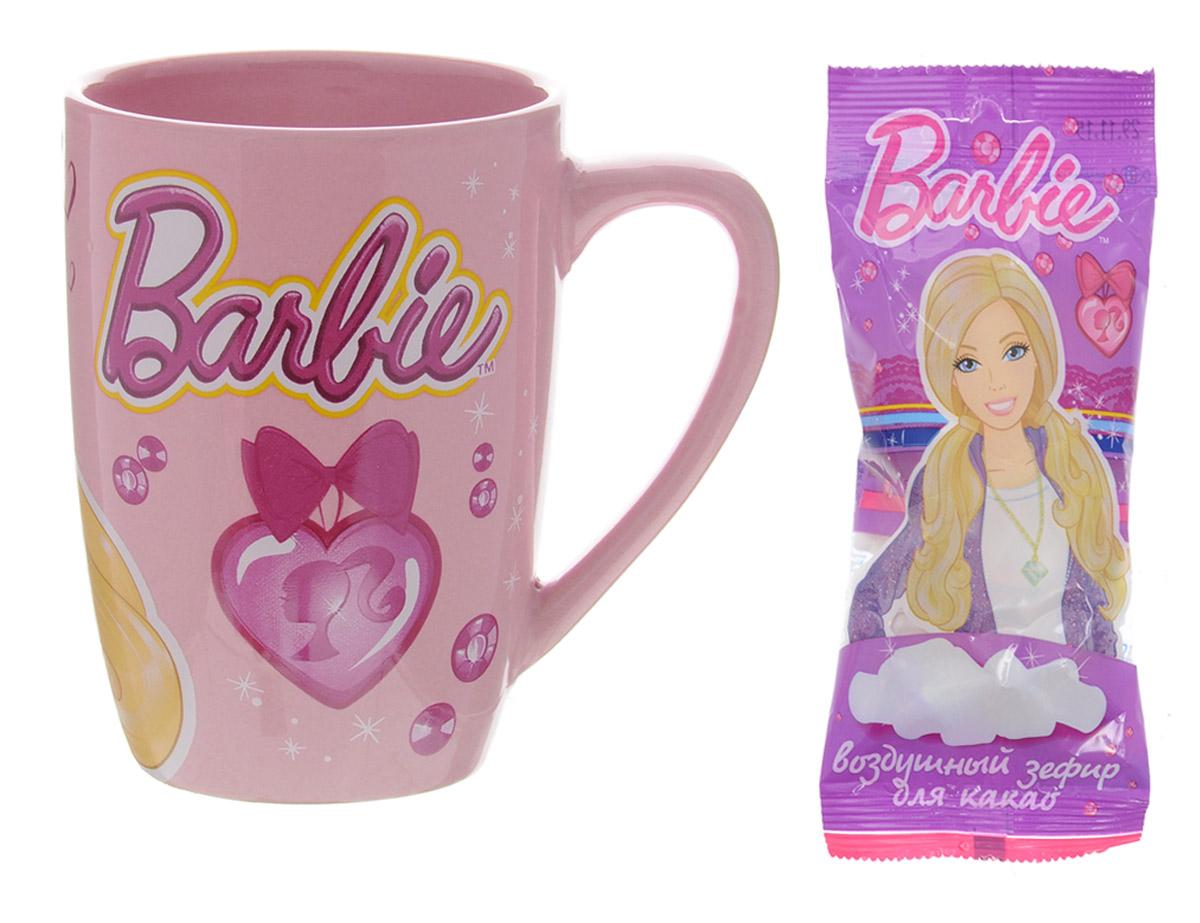 Barbie кружка с зефиром для какао, 15 гMK-90-3/BAКружка с зефиром Barbie – это готовый подарочный набор для поклонников Barbie и любителей вкусных десертов. В кружке находится порция нежного воздушного зефира. Это 100% натуральный продукт производства российской фабрики МАК-Иваново.