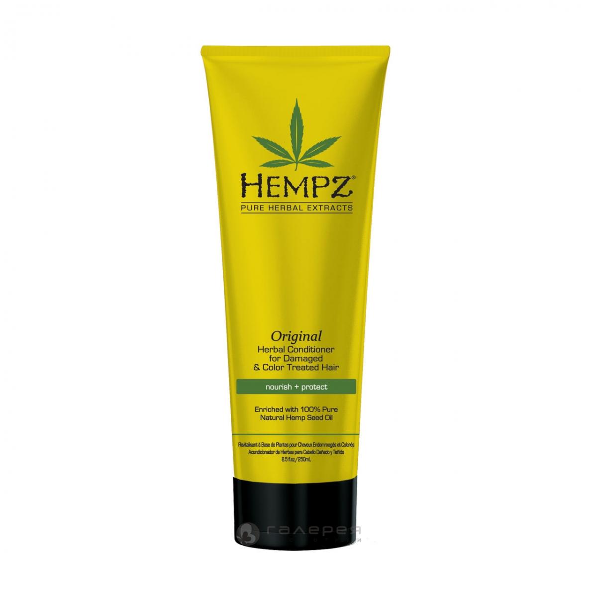 Hempz Кондиционер растительный Оригинальный для поврежденных окрашенных волос Original Herbal Conditioner 265 мл