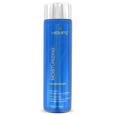 Hempz Кондиционер увлажняющий Moisturizing Conditioner 250 мл676280011670Увлажняющий кондиционер Moisturizing Conditioner придает волосам мягкость и наполняет их живительной силой. Кондиционер на длительное время сохраняет цвет натуральных и окрашенных волос, оберегает их от термического воздействия потоков горячего воздуха и солнечного излучения. Активно предотвращает вымывание цвета, блокирует действие жестких компонентов воды. Moisturizing Conditioner не содержит глютенов и парабенов и на 100% состоит из натуральных растительных компонентов. Состав активных компонентов: конопляный экстракт, конопляное, кукурузное, кунжутное и соевое масло, гидролизированные пшеничные и соевые протеины, производная гуаровой смолы, экстракты настурции, крапивы, арники, розмарина и пантенол.