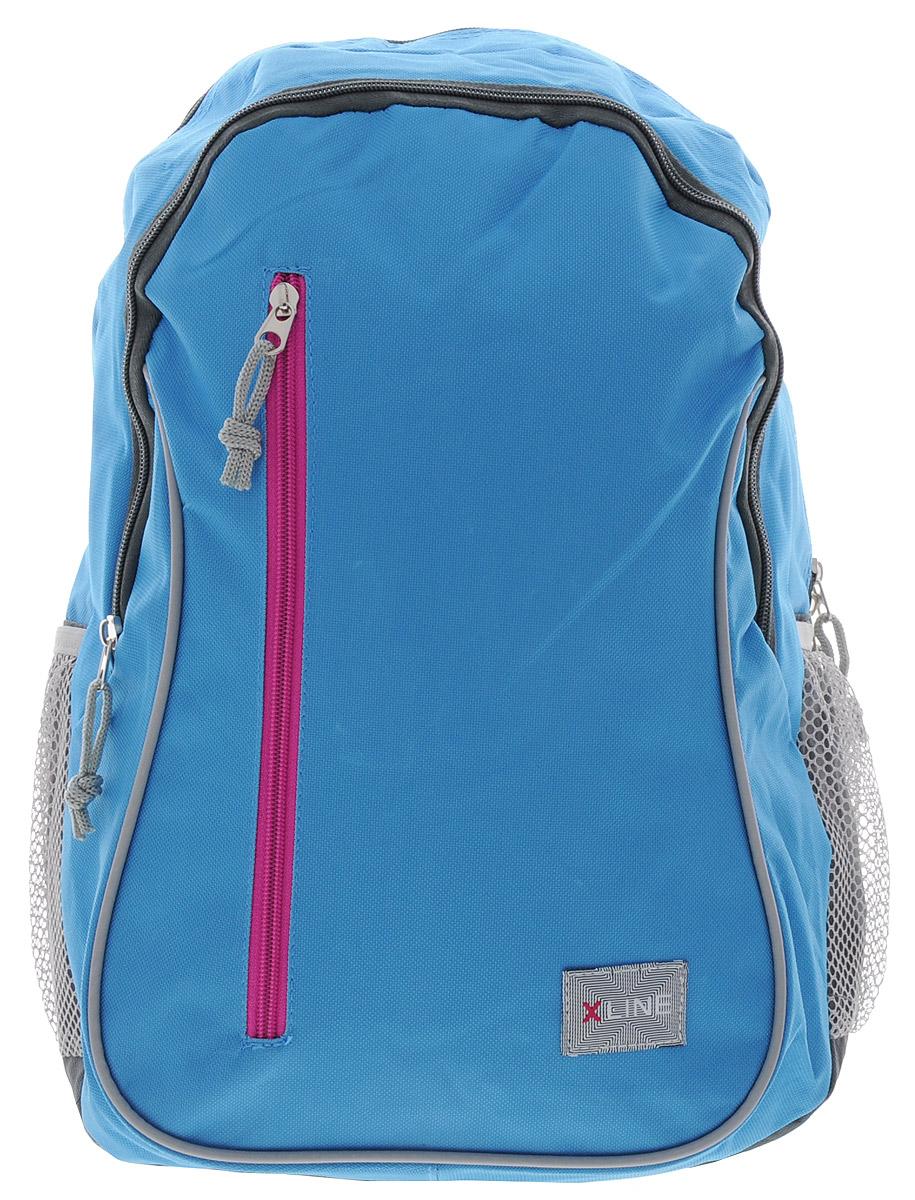 Proff Рюкзак школьный X-line цвет голубой серыйDL-684BШкольный рюкзак Proff X-line обязательно понравится вашему школьнику. Выполнен рюкзак из прочного и высококачественного материала. Содержит два вместительных отделения, закрывающиеся на застежки-молнии. По бокам находятся два открытых кармана-сетки, стянутых сверху резинкой. Лицевая сторона оснащена прорезным карманом на застежке-молнии. Мягкие широкие анатомические лямки позволяют легко и быстро отрегулировать изделие в соответствии с ростом. Рюкзак оснащен текстильной ручкой для удобной переноски в руке. Светоотражающие элементы обеспечивают безопасность в темное время суток. Многофункциональный школьный рюкзак станет незаменимым спутником вашего ребенка в походах за знаниями.