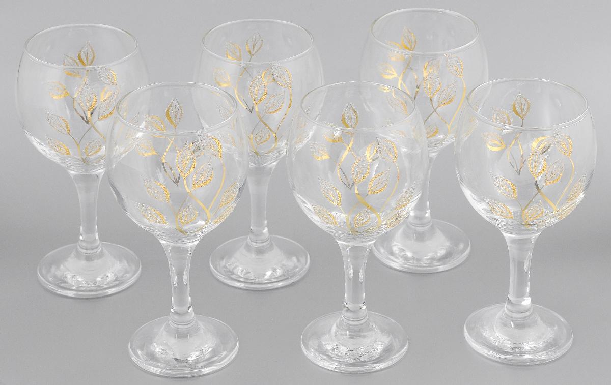 Набор бокалов для вина Мусатов Осень, 260 мл, 6 шт411/08Набор бокалов для вина Мусатов Осень изготовлен из натрий-кальций-силикатного стекла. Набор состоит из 6 бокалов, выполненных в элегантном дизайне. Набор предназначен для подачи вина. Набор бокалов Мусатов Осень прекрасно оформит праздничный стол и создаст приятную атмосферу за романтическим ужином. Такой набор также станет хорошим подарком к любому случаю. Можно мыть в посудомоечной машине. Диаметр бокала (по верхнему краю): 6,5 см. Высота бокала: 16 см. Диаметр основания бокала: 6 см.