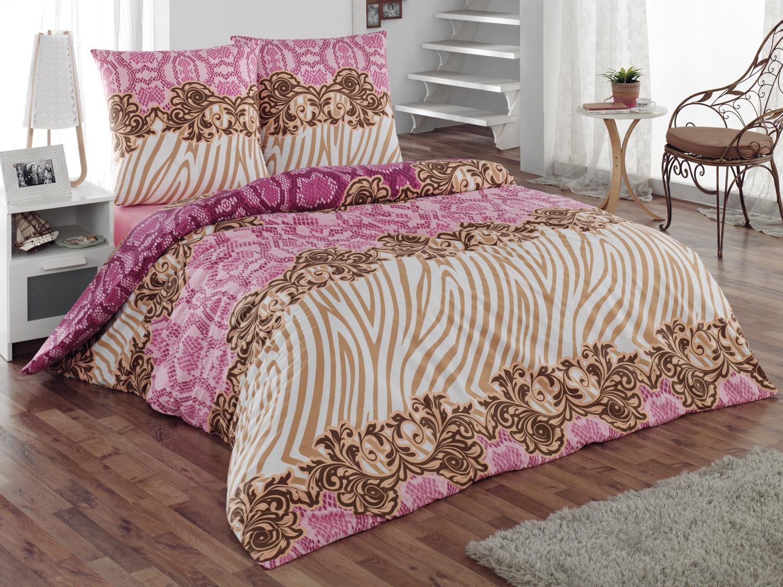 Комплект белья Tete-a-Tete Фэшн, 2-спальный, наволочки 70х70, цвет: розовый. К-8070п + простыня в подарокК-8070п
