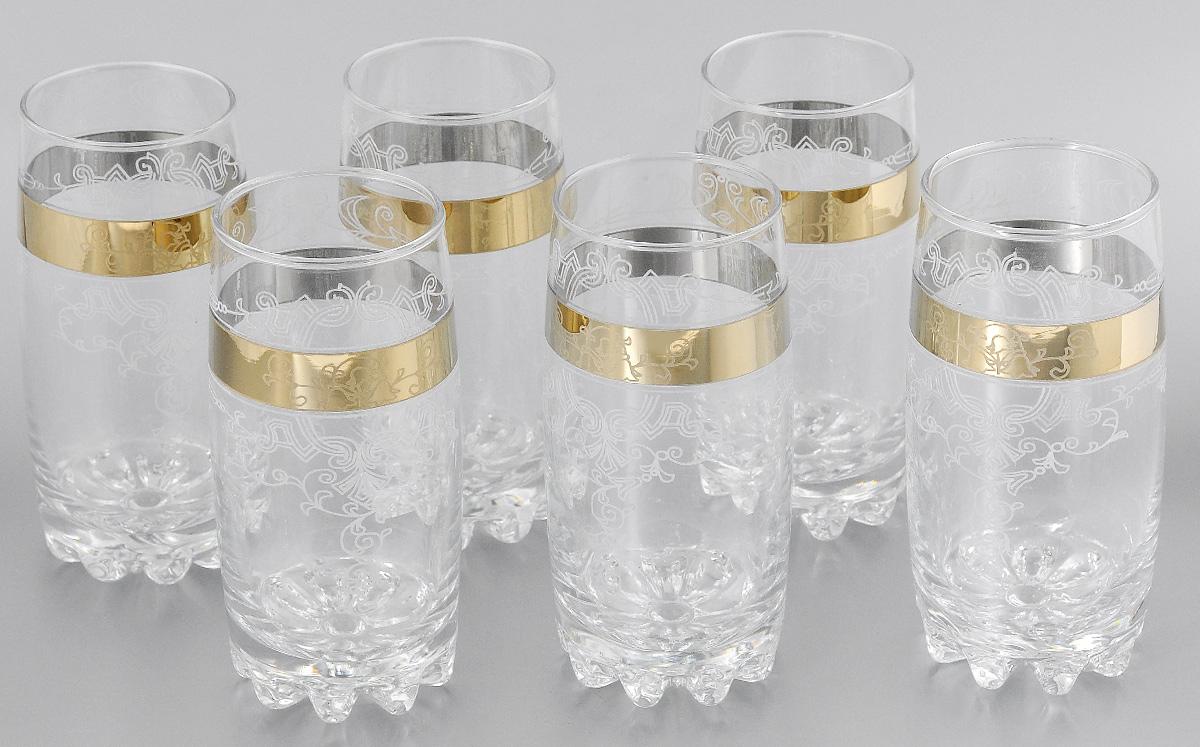 Набор стаканов для коктейлей Мусатов Бьюти, 390 мл, 6 шт812/05Набор стаканов для коктейлей Мусатов Бьюти изготовлен из натрий-кальций-силикатного стекла. Набор состоит из 6 стаканов, выполненных в элегантном дизайне. Такие стаканы украсят любой праздничный стол. Набор стаканов для коктейлей может стать отличным подарком к любому празднику. Можно мыть в посудомоечной машине. Диаметр стакана по верхнему краю: 6 см. Высота стакана: 14,5 см.