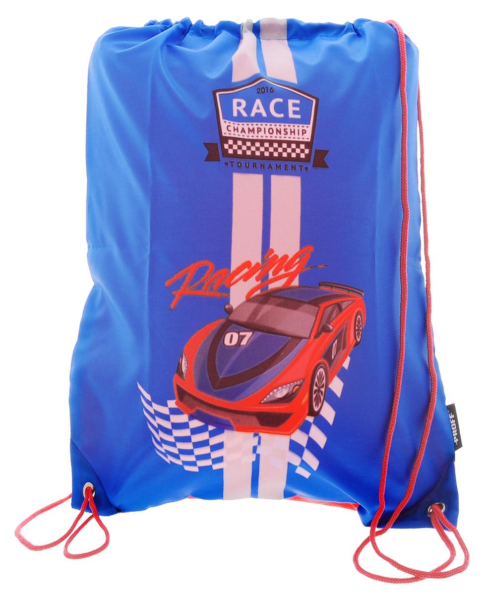 Proff Сумка для сменной обуви Racing цвет голубой