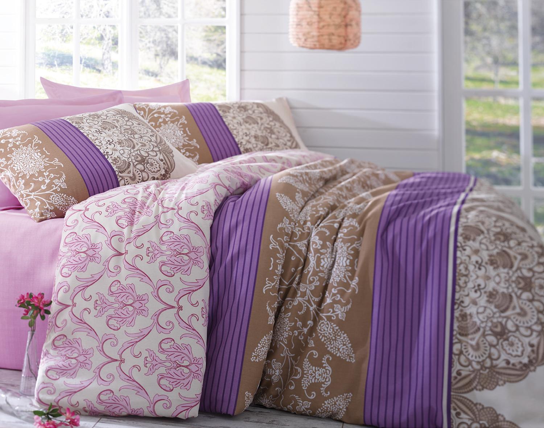 Комплект белья Tete-a-Tete Дантелла, евро, наволочки 70х70, цвет: розовый. К-8052п + простыня в подарокК-8052п