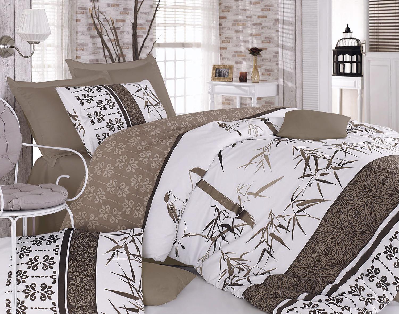 Комплект белья Tete-a-Tete Бамбук Коричневый, евро, наволочки 70х70, цвет: коричневый. К-8051п + простыня в подарокК-8051п