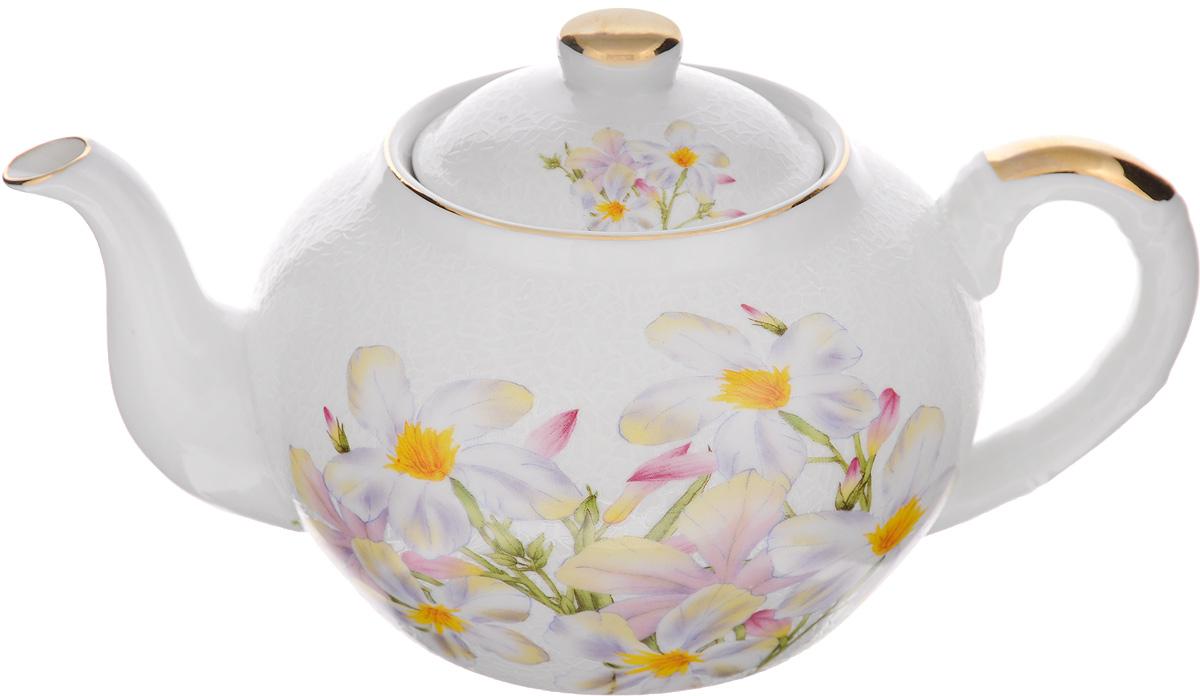 Чайник заварочный Loraine, с фильтром, 1 л. 2112321123Заварочный чайник Loraine изготовлен из высококачественной керамики и оснащен металлическим фильтром. Он поможет вам в приготовлении вкусного и ароматного чая, а также станет украшением вашей кухни. Яркий рисунок придает чайнику особый шарм, он удобен в использовании и понравится каждому. Такой заварочный чайник станет приятным и практичным подарком на любой праздник. Чайник упакован в подарочную коробку. Диаметр по верхнему краю: 9 см. Диаметр основания: 9,5 см. Высота чайника (с учетом крышки): 11,5 см. Высота чайника (без учета крышки): 10 см. Высота фильтра: 5 см.