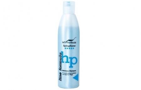 WT-Methode Шампунь для чувствительной кожи головы и для ежедневного ухода Line formula Wellness Shampoo Springflower 250 млWTM-PLF-83Чувствительная кожа головы, необходимость мыть волосы каждый день – не пора ли подобрать деликатный и бережный шампунь? Wellness Shampoo имеет щадящую формулу. Этот шампунь мягко очищает и успокаивает кожу головы, укрепляя волосы по всей длине благодаря экстрактам мальвы и проса. Wellness Shampoo – прекрасное решение для тех, кто страдает от частых аллергических реакций и раздражений после использования обычных шампуней. Также он подойдёт малышам, так как абсолютно безопасен. Этот шампунь, отличительной особенностью которого является щадящая и нейтральная формула, идеален для тех, кто ищет высокое качество и мягкость. Он оптимален, когда речь идёт о шампунях для ежедневного применения.