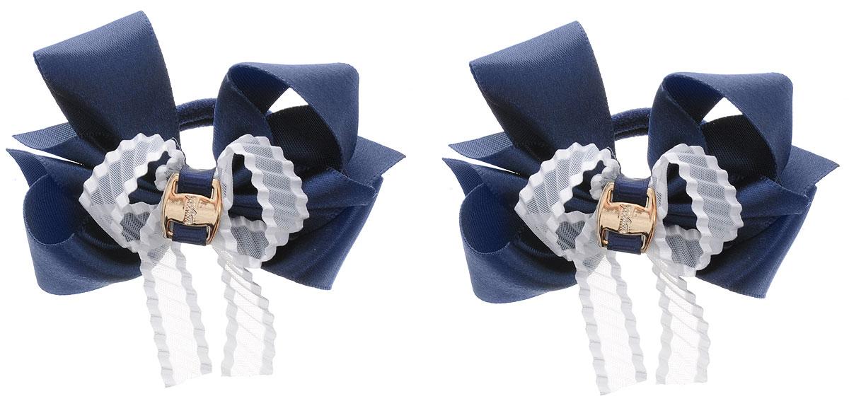 Baby's Joy Резинка для волос цвет темно-синий белый 2 шт K 17