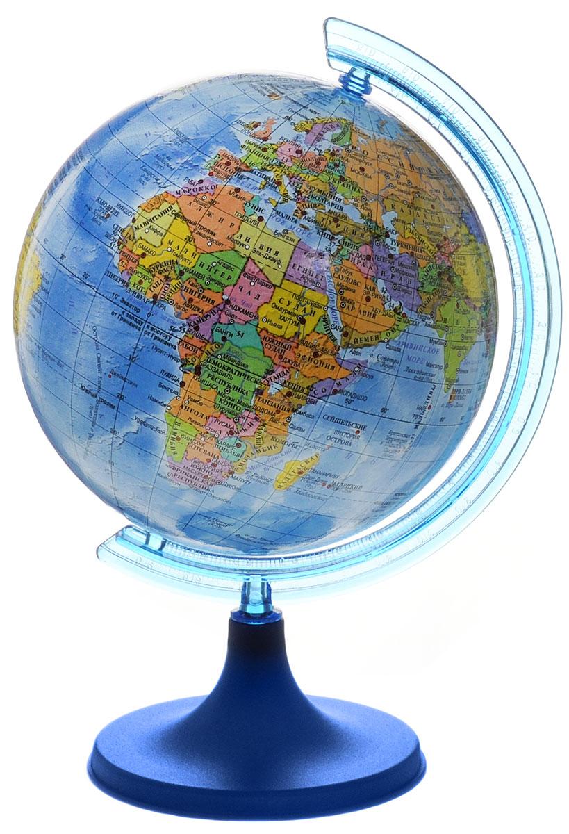DMB Глобус политический диаметр 11 см + мини-энциклопедия Страны мираОСН1224093Политический глобус DMB, изготовленный из высококачественного прочного пластика, дает представление о политическом устройстве мира. Изделие расположено на подставке. Все страны мира раскрашены в разные цвета. На политическом глобусе показаны границы государств, столицы и крупные населенные пункты, а также картографические линии: параллели и меридианы, линия перемены дат. Названия стран на глобусе приведены на русском языке. Ничто так не обеспечивает всестороннего и детального изучения политического устройства мира в таком сжатом и объемном образе, как политический глобус. Сделайте первый шаг в стимулирование своего обучения! К глобусу прилагается мини-энциклопедия Страны мира с кратким описанием всех стран.