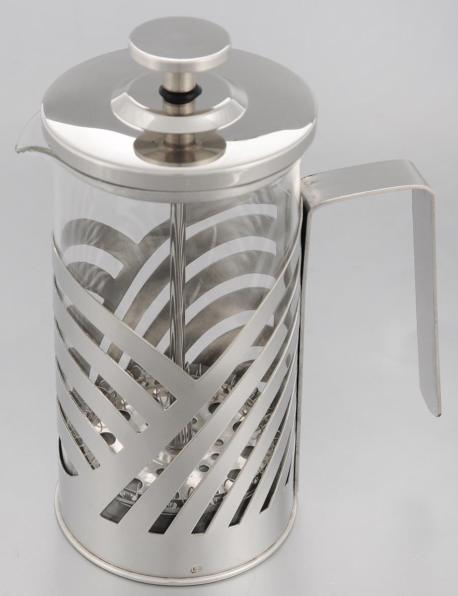 Френч-пресс Mayer & Boch, 350 мл. 2322023220Френч-пресс Mayer & Boch позволит быстро и просто приготовить свежий и ароматный чай или кофе. Корпус изготовлен из высококачественного жаропрочного стекла, устойчивого к окрашиванию, царапинам и термошоку. Фильтр-поршень из нержавеющей стали выполнен по технологии press-up для обеспечения равномерной циркуляции воды. Готовить напитки с помощью френч-пресса очень просто. Насыпьте внутрь заварку и залейте кипятком. Остановить процесс заваривания легко. Для этого нужно просто опустить поршень, и заварка уйдет вниз, оставляя вверху напиток, готовый к употреблению. Заварочный чайник с прессом - это совершенный чайник для ежедневного использования. Практичный и стильный дизайн полностью соответствует последним модным тенденциям в создании предметов кухонной утвари. Можно мыть в посудомоечной машине. Диаметр (по верхнему краю): 7 см. Высота (с учетом крышки): 17 см. Диаметр основания: 7 см.