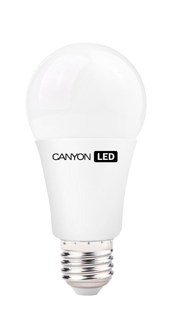 Лампа светодиодная Canyon LED AE27FR12W230VWAE27FR12W230VWCANYON LED A60 E27 12W 220V 2700K Лампочка традиционной формы, излучает мягкий рассеянный свет. Имеет уникальный LED модуль COB ICE CANYON, позволяющий избежать чрезмерного нагревания. Предназначена для установки в светильниках с патроном E27. Доступна с матовой колбой. Чрезвычайно низкое энергопотребление позволяет сэкономить до 90% энергии в сравнении с традиционными лампами накаливания