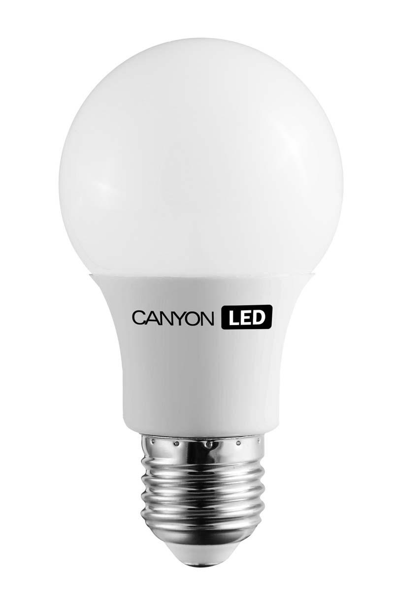 Лампа светодиодная Canyon LED AE27FR6W230VWAE27FR6W230VWCANYON LED A60 E27 6W 220V 2700K Лампочка традиционной формы, излучает мягкий рассеянный свет. Имеет уникальный LED модуль COB ICE CANYON, позволяющий избежать чрезмерного нагревания. Предназначена для установки в светильниках с патроном E27. Доступна с матовой колбой. Чрезвычайно низкое энергопотребление позволяет сэкономить до 90% энергии в сравнении с традиционными лампами накаливания
