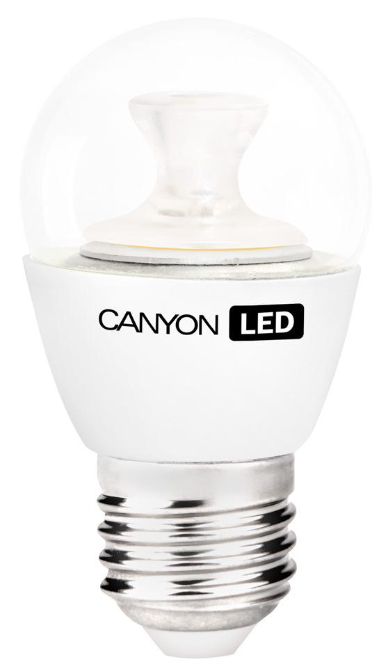 Лампа светодиодная Canyon LED PE27CL3.3W230VWPE27CL3.3W230VWCANYON LED P45 E27 3.3W 220V 2700K Маленькая лампочка шаровидной формы имеет компактные габариты и представлена с разным видами цоколя. Лампа излучает теплый свет и обеспечивает значительную экономию энергии, что минимизирует затраты на обслуживание. Доступна с матовой и прозрачной колбой