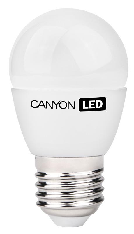 Лампа светодиодная Canyon LED PE27FR3.3W230VNPE27FR3.3W230VNCANYON LED P45 E27 3.3W 220V 4000K Маленькая лампочка шаровидной формы имеет компактные габариты и представлена с разным видами цоколя. Лампа излучает теплый свет и обеспечивает значительную экономию энергии, что минимизирует затраты на обслуживание. Доступна с матовой и прозрачной колбой