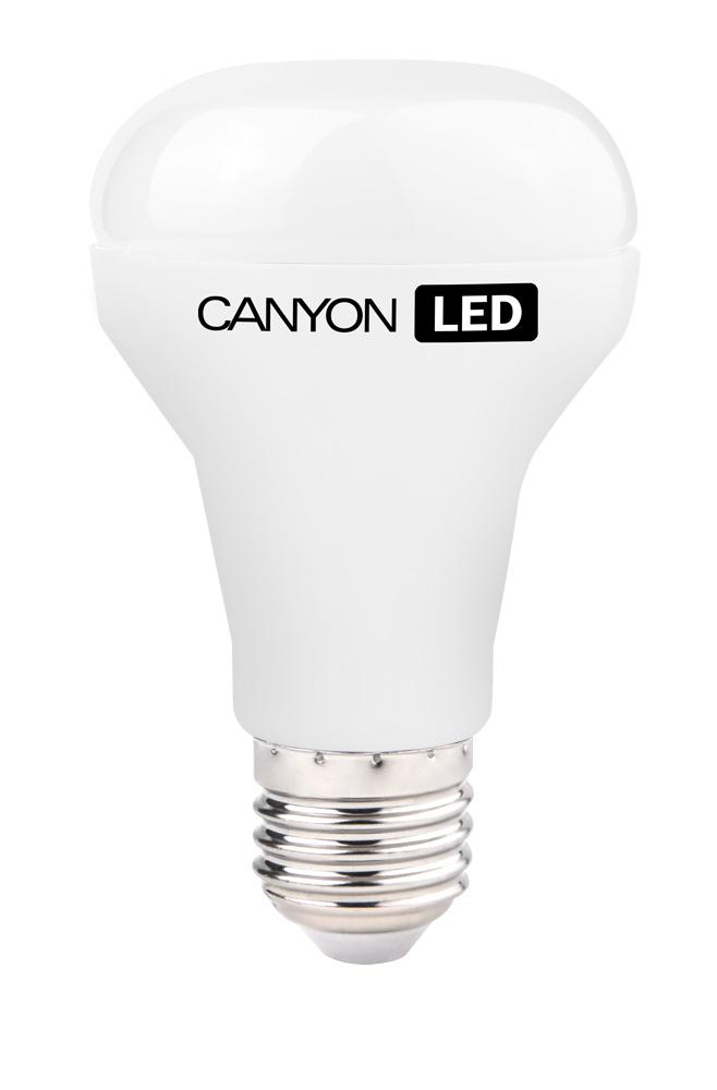 Лампа светодиодная Canyon LED R63E27FR10W230VNR63E27FR10W230VNCANYON LED R63 E27 10W 220V 4000K Лампочка традиционной формы, излучает мягкий тёплый свет. Имеет уникальный модуль COB ICE CANYON, позволяющий избежать чрезмерного нагревания. Предназначена для установки в светильниках с цоколем Е14 и E27. Является отличной современной альтернативой для обычных ламп накаливания, позволяя экономить до 90% электроэнергии