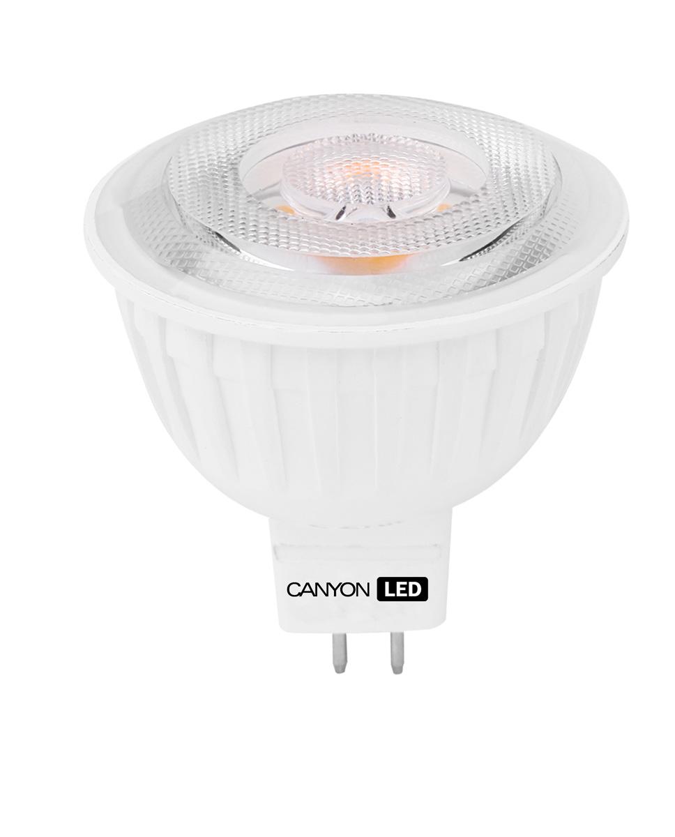 Лампа светодиодная Canyon, цоколь GU5.3, 4,8W, 2700КMRGU53/5W230VW60Светодиодная лампа Canyon идеально подходит для замены галогенных ламп в точечных светильниках. В отличие от последних, она не выделяет огромное количество тепла. Подходит для общего и направленного освещения с углом рассеивания 60° и 38° соответственно. Светодиодная лампа Canyon показывает объекты, не искажая истинные цвета, так что ваши шедевры сохранят изначальную цветовую гамму.