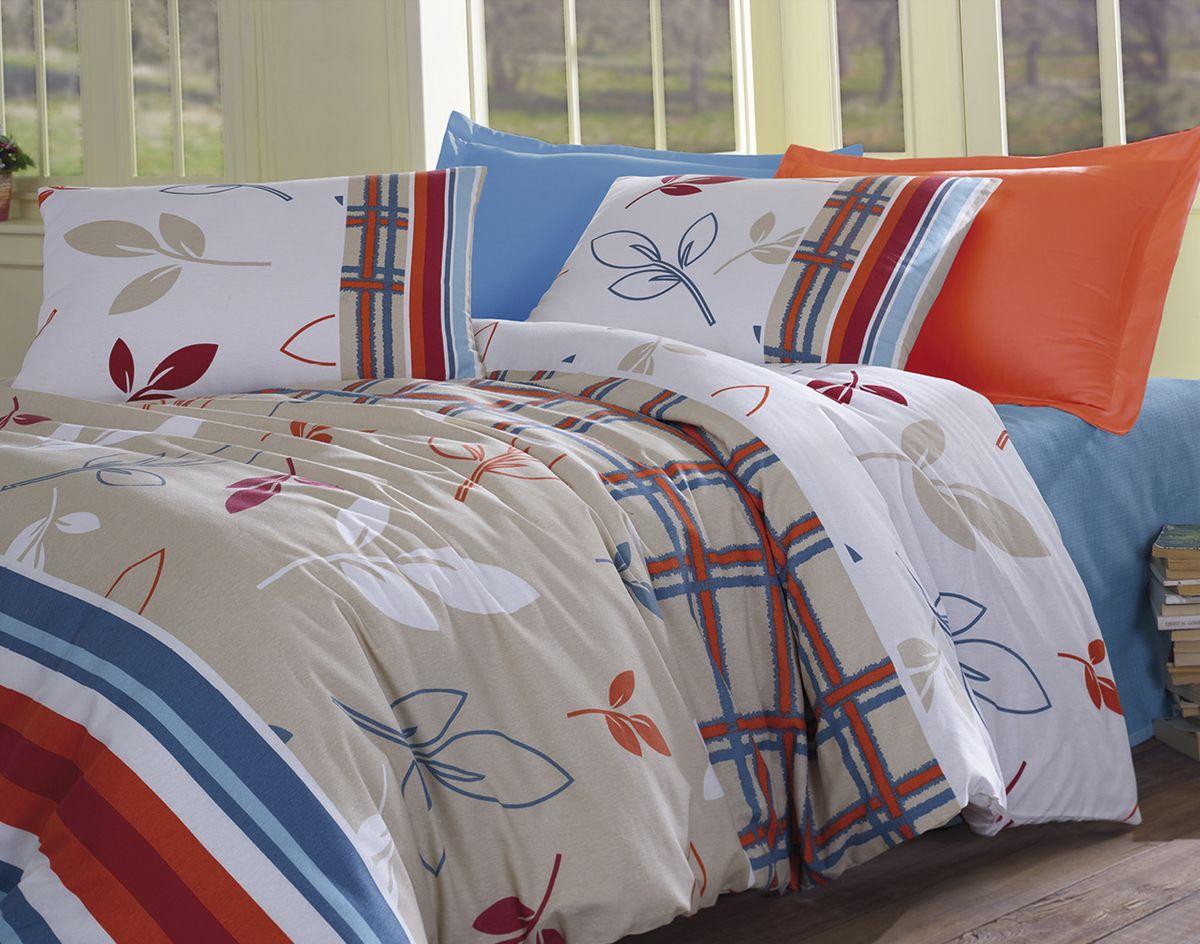 Комплект белья Tete-a-Tete Фани, семейный, наволочки 70х70, цвет: голубой. К-8053п + простыня в подарокК-8053п