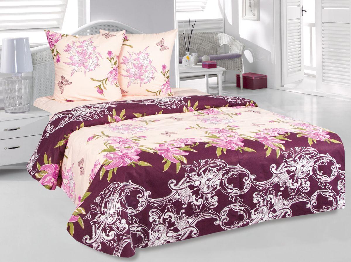 Комплект белья Tete-a-Tete Лилиана, 1,5-спальный, наволочки 70х70, цвет: бежевый. к-8079п + простыня в подарокк-8079п