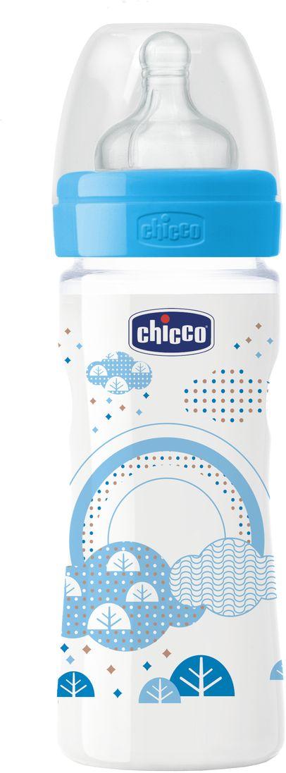 Бутылочка Chicco Well-Being Boy от 2 месяцев 250 мл310205114Бренд Chicco создан в Италии в 1958 году и уже более 55 лет предлагает малышам и их мамам качественные и надежные товары для комфортного материнства. Серия бутылочек и сосок Well-Being (в переводе с английского - благополучие) от Chicco за 10 лет стала хитом продаж - ее выбрали уже более 30 миллионов мам во всем мире. Бутылочка Well-Being 250мл с силиконовой соской имеет рифленые кольца на кончике соски, которые повышают ее эластичность: во время кормления соска вытягивается почти в 2 раза и становится похожей на материнский сосок. Соска имеет антиколиковый клапан, который предупреждает возникновение колик, икоты и срыгивания. Широкое основание соски обеспечивает поддержку губам ребенка и помогает сосать, обеспечивая физиологический захват. Не содержит бисфенол-А. Комплектность: с крышкой для гигиены. Соска средний поток на этой бутылочке предназначена для детей с 2 месяцев. Рекомендации по уходу: стерилизовать бутылочку горячим паром или кипятить в течение 5 минут. Товар...
