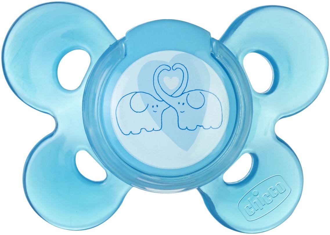 Пустышка Chicco Physio Comfort Слоники силиконовая от 6 до 12 месяцев
