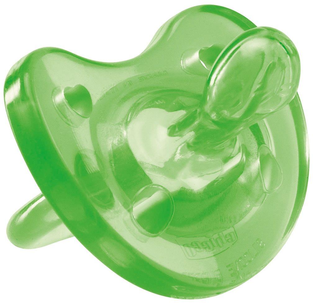 Chicco Пустышка Physio Soft силиконовая от 6 до 12 месяцев цвет зеленый