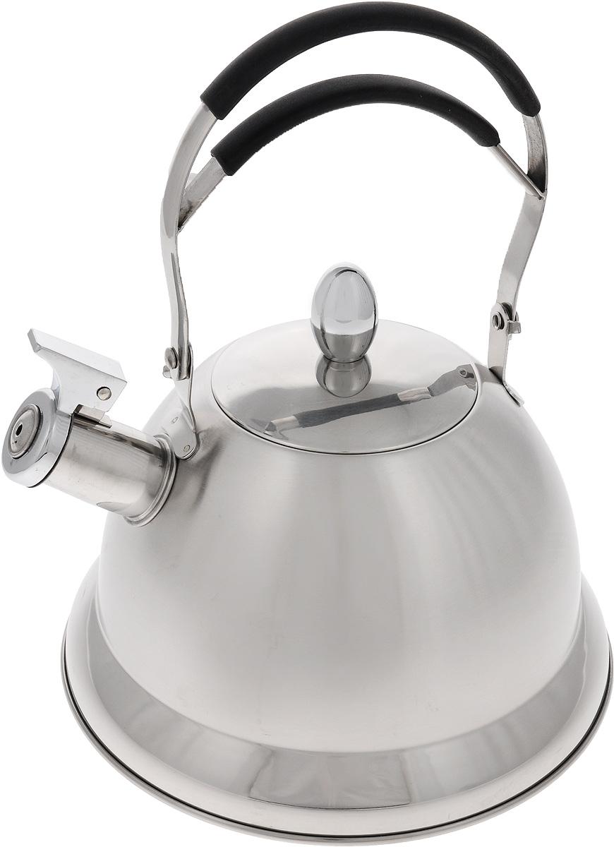 Чайник Mayer & Boch, со свистком, 3 л. 2320323203Чайник со свистком Mayer & Boch выполнен из долговечной и прочной нержавеющей стали, которая не окисляется и устойчива к коррозии. Изделие оснащено свистком, благодаря которому вы можете не беспокоиться о том, что закипевшая вода зальет плиту. Как только вода закипит - свисток оповестит вас об этом. Ручка чайника оснащена силиконовой вставкой. Удобный и практичный чайник отлично впишется в интерьер любой кухни. Подходит для всех типов плит, кроме индукционных.Можно мыть в посудомоечной машине. Диаметр чайника (по верхнему краю): 10 см. Высота чайника (с учетом ручки и крышки): 29 см.