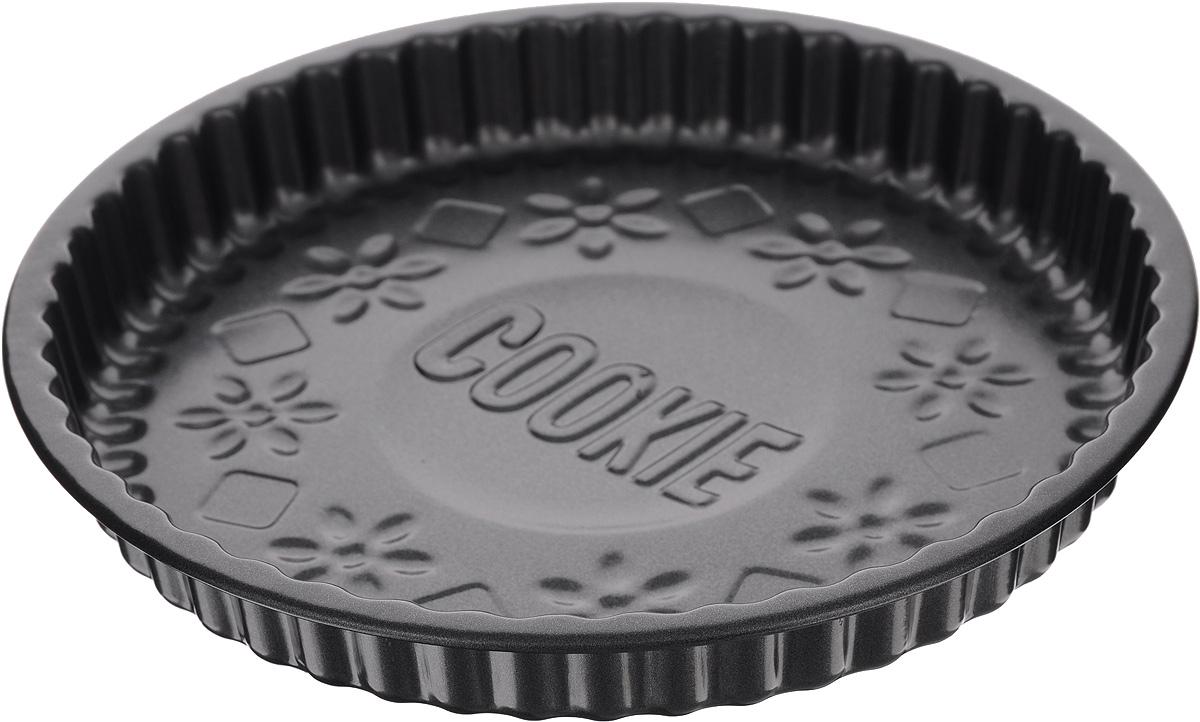 Форма для выпечки Mayer & Boch Unico, круглая, с антипригарным покрытием, диаметр 23,8 см20172Рифленая форма Mayer & Boch Unico, изготовленная из высококачественной углеродистой стали, предназначена для приготовления пирога и другой выпечки. Антипригарное покрытие обеспечивает легкую очистку формы после использования. Высокая теплопроводность способствует быстрому приготовлению пищи. С такой формой вы всегда сможете порадовать своих близких оригинальной выпечкой. Высота формы: 3,5 см. Внутренний диаметр формы: 22,8 см.