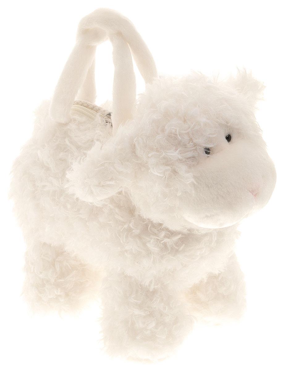 Aurora Мягкая игрушка-сумка Овечка 30 см10-708Собираясь на прогулку, малыши берут с собой свои любимые игрушки. Мягкая игрушка-сумка Aurora Овечка подойдет для этого как нельзя лучше! Мягкая игрушка-сумка предназначена для складывания в нее самых дорогих для ребенка игрушек и предметов. Ребенку будет удобно переносить сумочку благодаря мягким ручкам и небольшому плечевому ремешку. Сумочка содержит одно отделение, расположенное на спине овечки, и закрывается с помощью застежки-молнии с бегунком в форме сердечка. Игрушка выполнена из экологически чистых, безопасных для ребенка материалов. Сумка не потеряет свою форму при машинной стирке (при температуре не выше 30 °C). Великолепное качество исполнения сделают эту игрушку чудесным подарком к любому празднику.