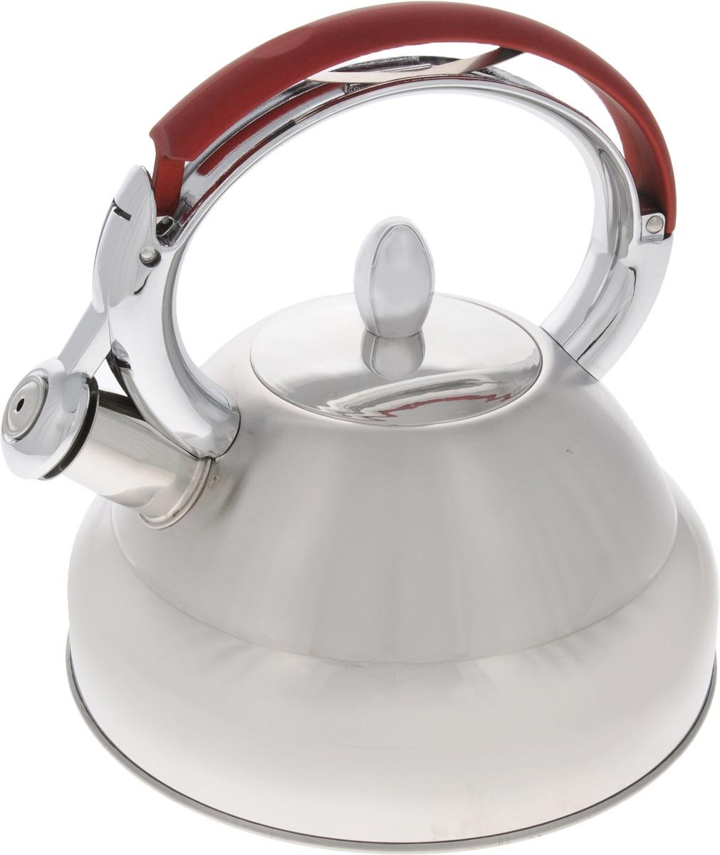 Чайник Mayer & Boch, со свистком, 3,2 л. 32913291Чайник Mayer & Boch выполнен из высококачественной нержавеющей стали, что делает его весьма гигиеничным и устойчивым к износу при длительном использовании. Чайник оснащен неподвижной металлической ручкой и откидным свистком, который громким сигналом подскажет, когда вода закипела. Подходит для газовых, электрических, стеклокерамических и индукционных плит. Можно мыть в посудомоечной машине. Диаметр (по верхнему краю): 9 см. Диаметр основания: 22 см. Диаметр индукционного диска: 17.5 см. Высота чайника (с учетом ручки и крышки): 23 см.