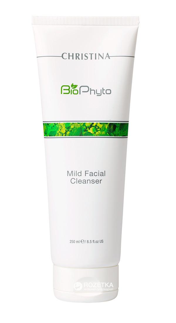 Christina Мягкий очищающий гель Bio Phyto Mild Facial Cleanser 250 млCHR573Мягкий, не сушащий кожу гель деликатно очищает кожу от излишков сала, остатков макияжа и загрязнений. Устраняет симптомы дискомфорта, оставляет кожу чистой и спокойной. Активные компоненты: Экстракт зеленого чая, огурца, инновационные моющие ингредиенты. Результат: Очищает кожу лица, шеи и зоны декольте.