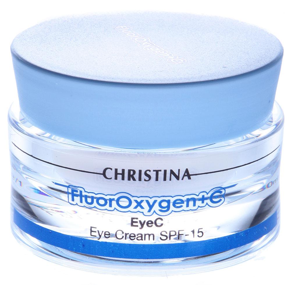 Christina Осветляющий крем для зоны глаз FluorOxygen +C EyeC SPF15 30 млFLUECFluorOxygen+C-EyeC - Осветляющий крем для зоны глаз с СПФ-15 эффективен против темных кругов под глазами, уменьшает припухлость и мимические морщины, защищает кожу век от вредного воздействия окружающей среды.