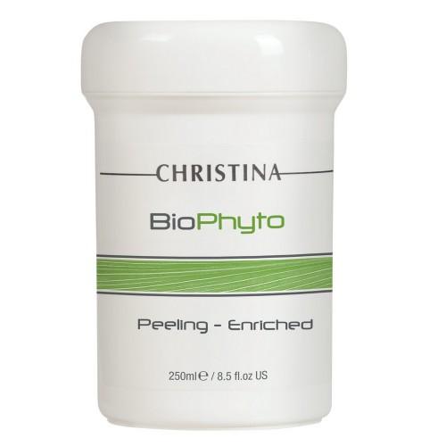 Christina Био-фито-пилинг обогащенный для всех типов кожи Bio Phyto Peeling Enriched 250 млВРРЕ250Био-фито-пилинг обогащенный для всех типов кожи Christina Bio Phyto Peeling Enriched разработан специалистами израильской компании Christina для невероятно интенсивного ухода за кожей любого типа. Благодаря инновационной формуле, лежащей в основе, пилинг компании Кристина оказывает одновременное воздействие на кожу в шести направлениях: активизирует кровообращение, давая превосходный результат при уставшей и бледной коже, усиливает регенерацию и эпителизацию, сужает расширенные капилляры, оказывая превосходное охлаждающее действие, нормализует работу сальных желез и глубоко очищает поры, оказывает ярко выраженное антибактериальное действие, насыщает кожу всеми необходимыми витаминами. Ну почему Обогащенный био-фиот-пилинг от компании Кристина имеет тот же состав, что и обычный био-фито-пилинг этой же линии, но концентрация биологически активных веществ в нем увеличена для более интенсивного воздействия на кожу. Пилинг рекомендуется для использования в случае отсутствия...