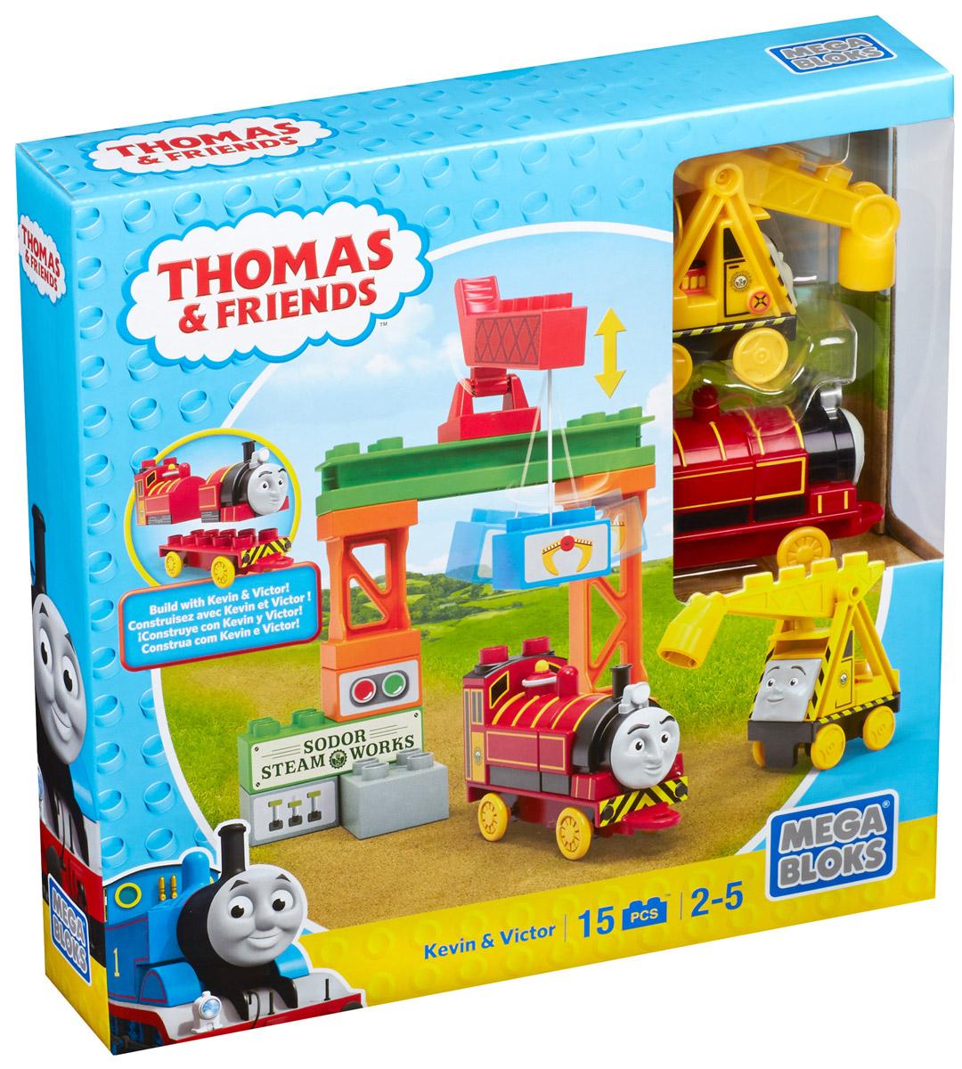 Mega Bloks Thomas & Friends Конструктор Кевин и ВикторCNJ08_CNJ10Конструктор Mega Bloks Кевин и Виктор - удивительный подарок для вашего ребенка! Конструкторы Mega Bloks - это новые горизонты творчества. Каждый из наборов - это завершенная конструкция, имеющая некий сюжет. Этот конструктор входит в серию наборов Thomas & Friends, созданных по одноименному мультфильму. Томас и его верная команда помогают жителям городка: привозят почту, чинят железнодорожные пути и возят пассажиров к пунктам назначения. В наборе 15 элементов конструктора, из которых можно собрать грузовую станцию Содор с работающим погрузчиком. Набор дополнен яркими детализированными стикерами. Все элементы конструктора совместимы с другими сборными паровозами из этой серии. Воссоздайте для своего маленького машиниста его любимые истории о приключениях паровозиков острова Содор или придумайте свою собственную. Идеальная игрушка для детей в возрасте от 2 до 5 лет.