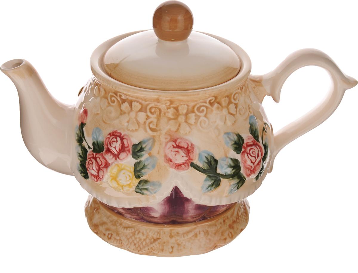 Чайник заварочный Mayer & Boch Розы, 1.15 л. 2243622436Чайник заварочный Mayer & Boch изготовлен из высококачественной керамики. Изделие декорировано ярким цветочным принтом. Носик чайника сверху покрыт золотистой эмалью. Чайник станет отличным дополнением к вашему кухонному инвентарю, а также украсит сервировку стола и подчеркнет прекрасный вкус хозяина. Можно использовать в посудомоечной машине.Может использоваться в микроволновой печи. Диаметр чайника (по верхнему краю): 8 см. Диаметр основания чайника: 10 см. Высота чайника (без учета крышки и ручки): 13 см.