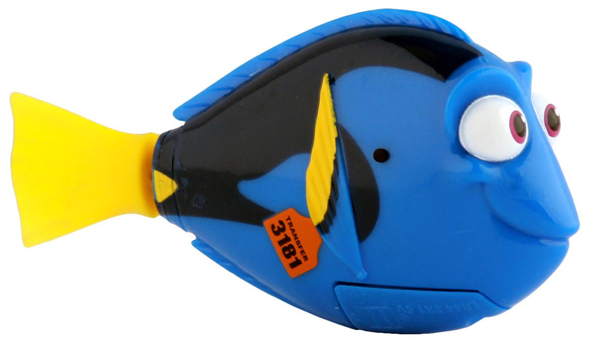 Dory Робот Рыбка Дори25138D В поисках Дори! Дори- главный герой продолжения известного мультфильма В поисках Немо, При соприкосновении с водой начинают плавать. В целях экономии энергии рыбка автоматически отключается через 4 минуты. Для активации рыбки вытащите ее из воды на несколько секунд и запустите снова в воду. Игрушка работает от двух алкалиновых батареек А76 или RL44, которые входят в комплект (две установлены в игрушку и 2 запасные)