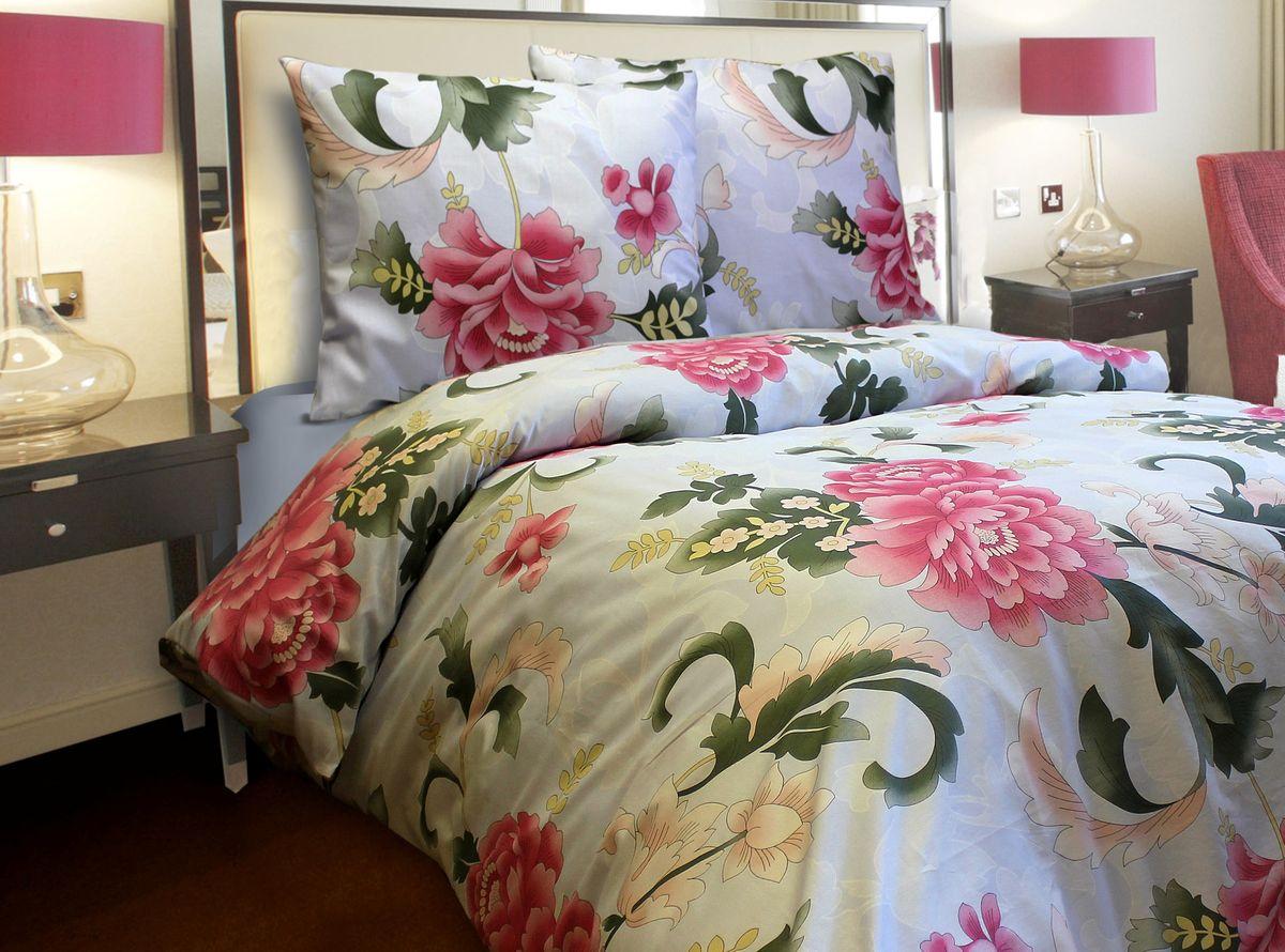 Постельное белье Блакiт Пионы, 1,5 спальное, наволочки 70х7021484063