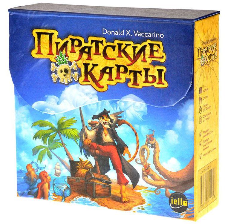 Magellan Настольная игра Пиратские картыMAG05264Пиратские карты это простая игра, в которой вам нужно как можно быстрее выкладывать своих пиратов на стол. Поначалу просто какой пират уже есть на столе, такого и можно выложить. А потом сложнее - ведь у каждой карты есть свои особенные свойства!